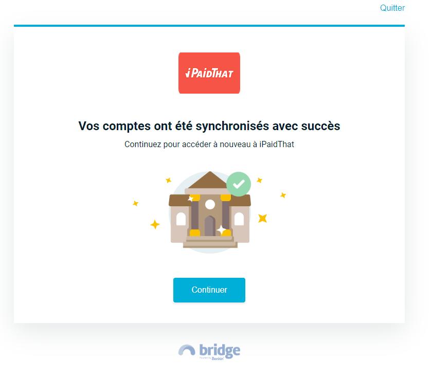 ipaidthat_syncrhonisation_réussi_bridge.png